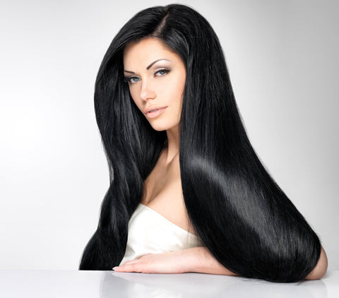 Jet Black #1-Clip In Remy Hair Extensions