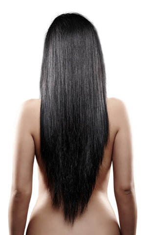 Jet Black#1-Machine Weft-Remy Human Hair Extensions