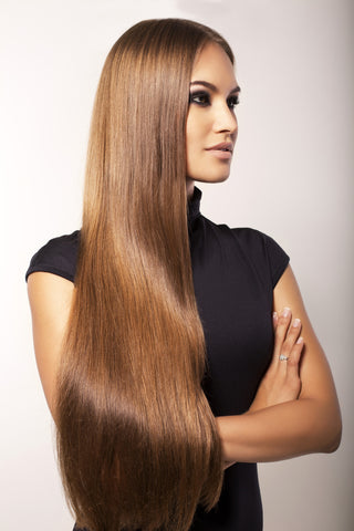 Hazelnut Brown #6-Clip In Remy Hair Extensions