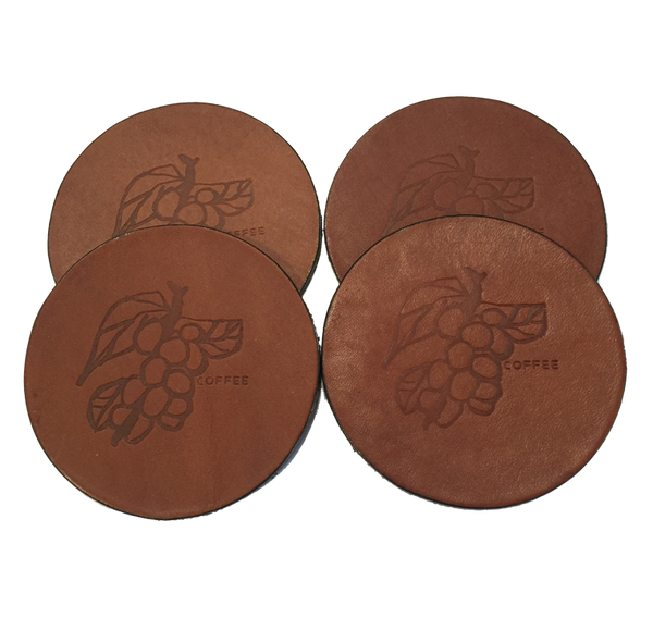 Leather Coaster - Set of Four