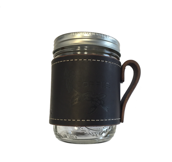 Leather Cross Stitch Mason Jar