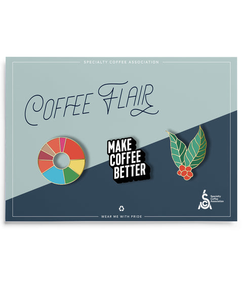 Coffee Flair Pin Set