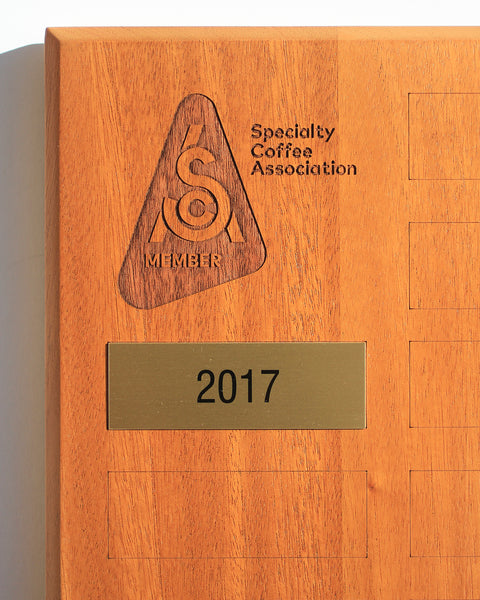 SCA Member Plaque Year Plate