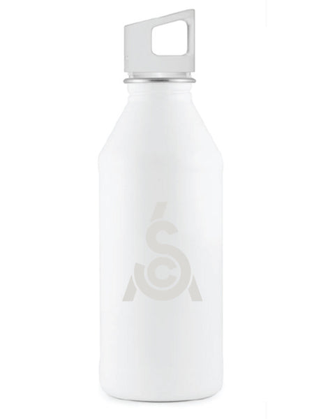 White Twist Lid Water Bottle