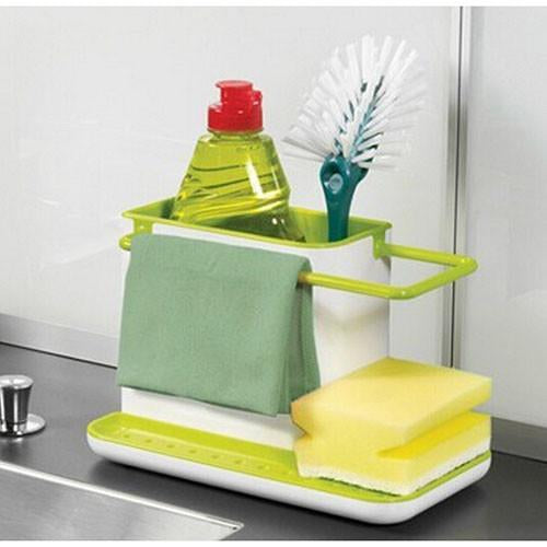 3 in one kitchen sink organizer