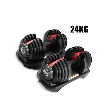 24KG Adjustable Dumbbells Set