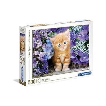 Clementoni Ap the Ginger Cat in Flowers 500 PCs Puzzle