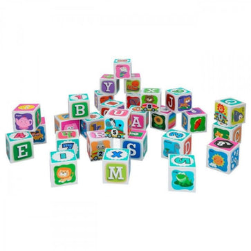 Playgo Alphabet Learning Blocks 28 Pcs (6 Printing Faces)