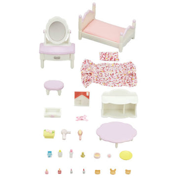 Sylvanian Family Bedroom & Vanity Set