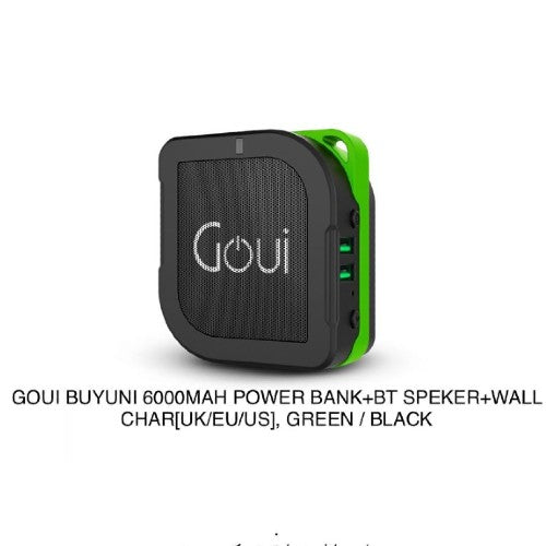 6000 mAh 2-In-1 Power Band With Bluetooth Speaker