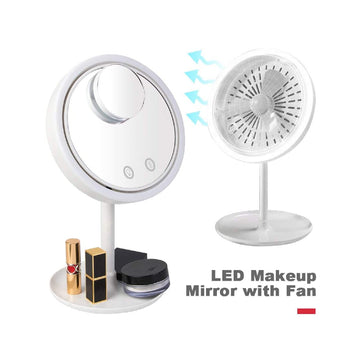 Beauty Breeze LED Mirror with Fan
