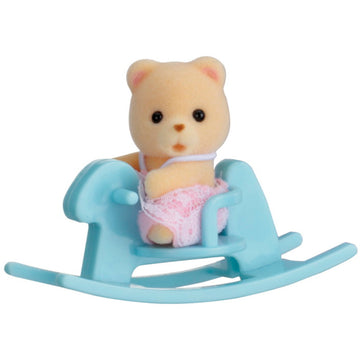 Sylvanian Family Baby Bear On Rocking Horse