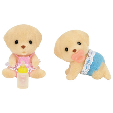 Sylvanian Family Yellow Labrador Twins