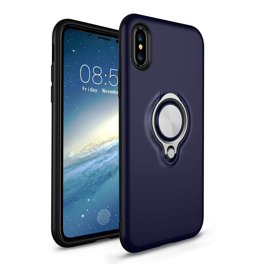 Hybrid Magnetic Ring Stand Case (iPhone X)