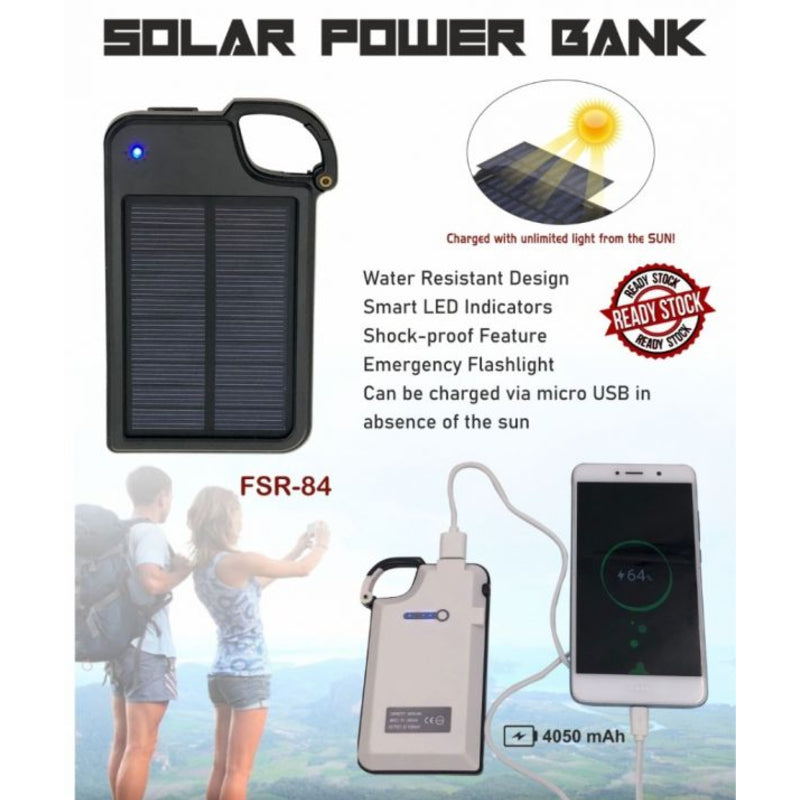Solar Power Bank FSR-84 4050 mAh