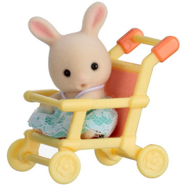 Sylvanian Family Baby Rabbit On Pushchair
