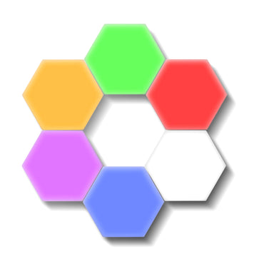 Hexagon Touch Sensor LED Wall Light (Set of 6)