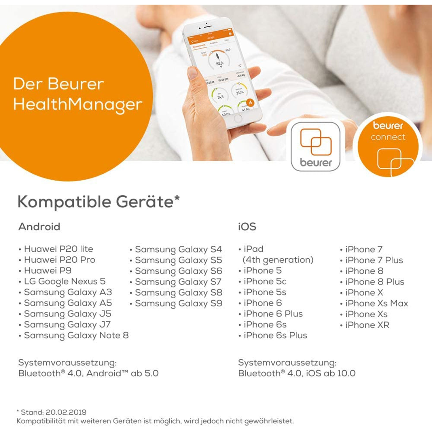 Beurer GS 485 Glass Scale - Bluetooth
