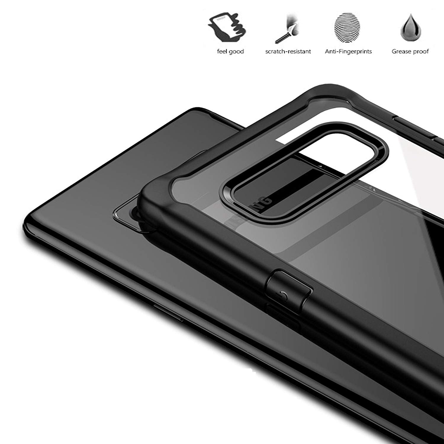 IPAKY Super Series Transparent Case (Samsung Note 8)