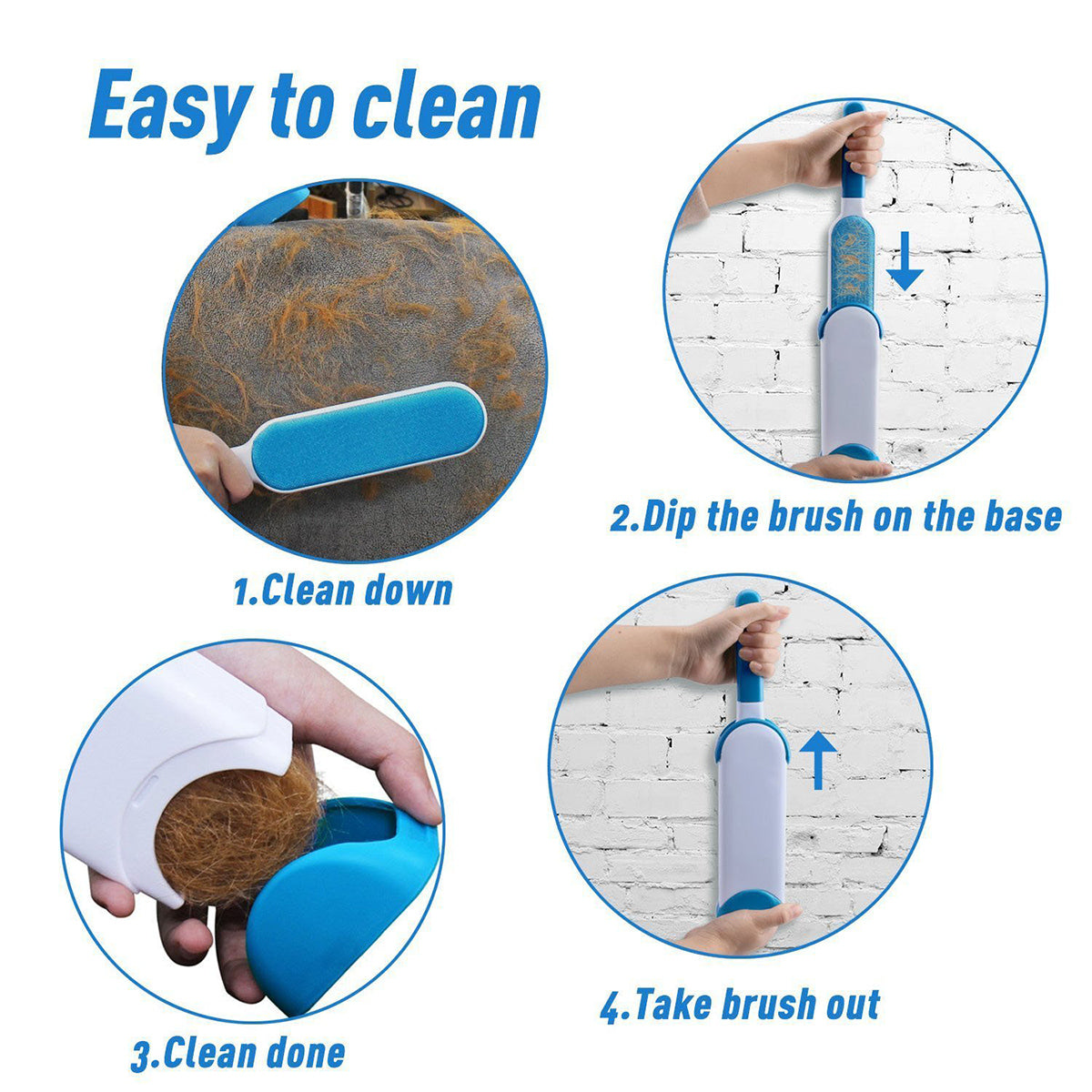 Self Cleaning Pet Fur Remover
