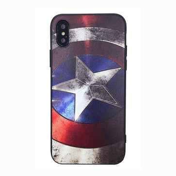 Captain America Tempered Glass Case (iPhone X)