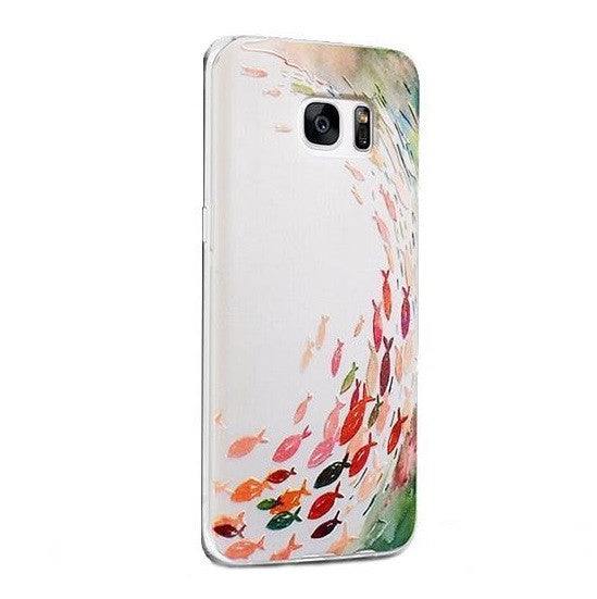 Fishes - Stereoscopic Relief Art 3D Case (Samsung S7) - Chikili.com