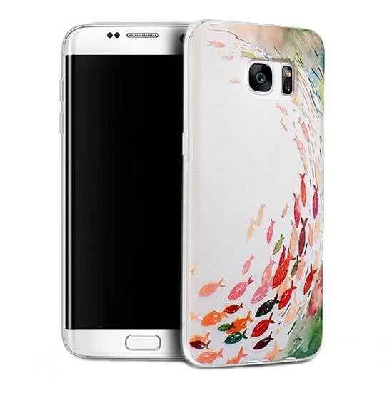 Fishes - Stereoscopic Relief Art 3D Case (Samsung S7 Edge) - Chikili.com