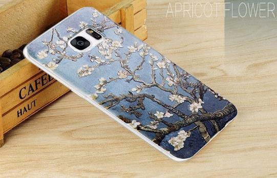Apricot Flower - Stereoscopic Relief Art 3D Case (Samsung S7 Edge)