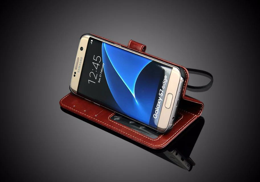Flip Wallet Coque Cover Case (Samsung S7)