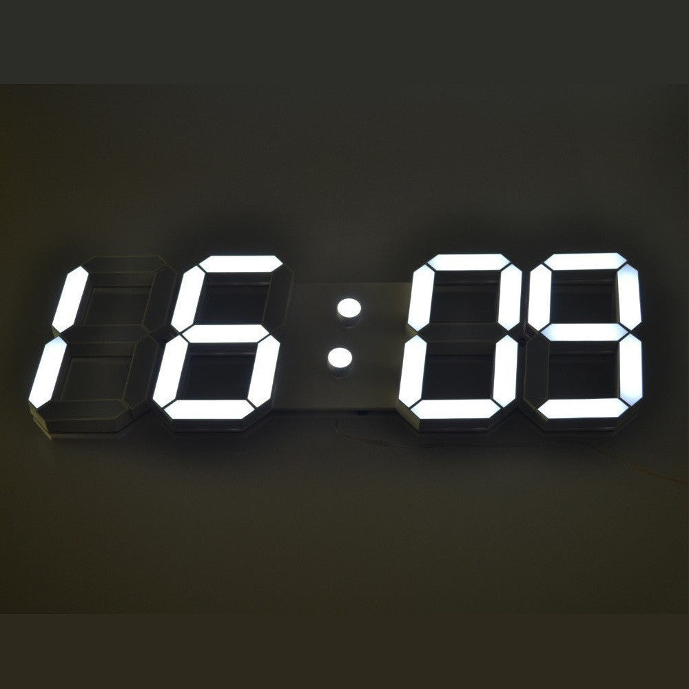 Digital Clock : White Base White Digits