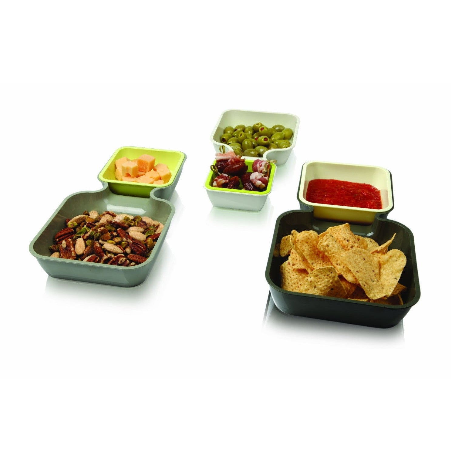 Serve and Stack Set of 6 Trays