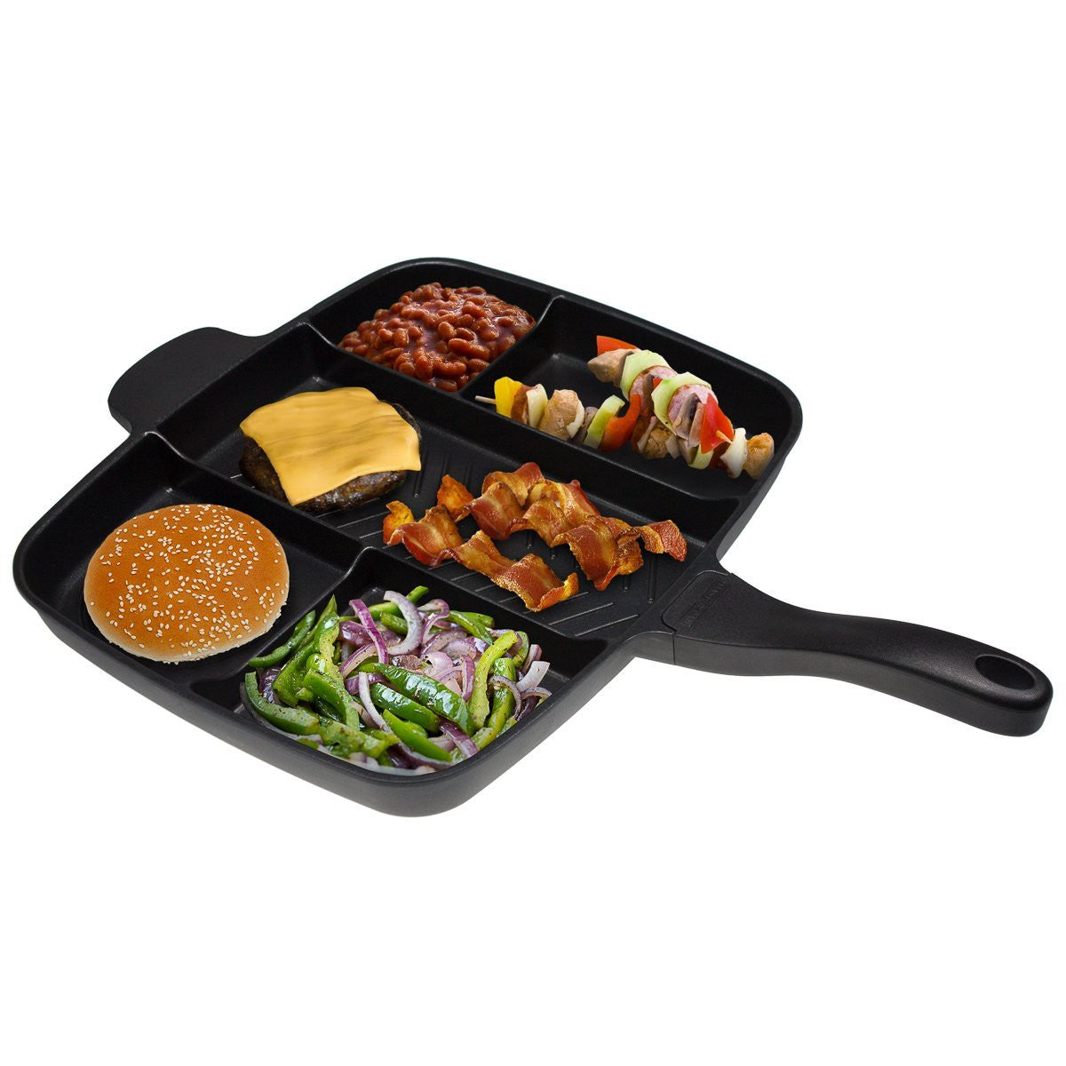 Master Pan Non-Stick Divided Grill/Fry/Oven Meal Skillet