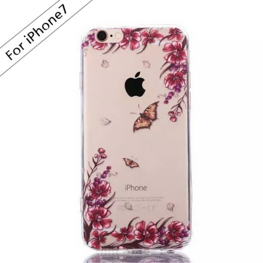 Butterfly Flower Transparent Case (iPhone 7) - Chikili.com