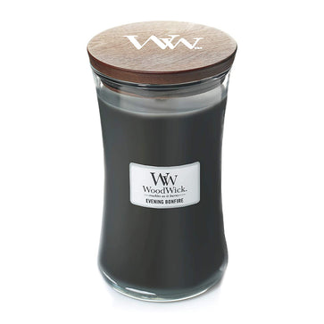 Woodwick Large Jar Evening Bonfire Candle