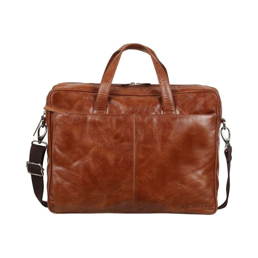 Carlton Inca Leather DG Laptop Satchel