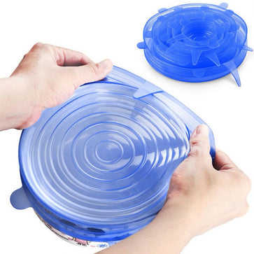 Silicone Stretch Suction Lids (Set of 6)