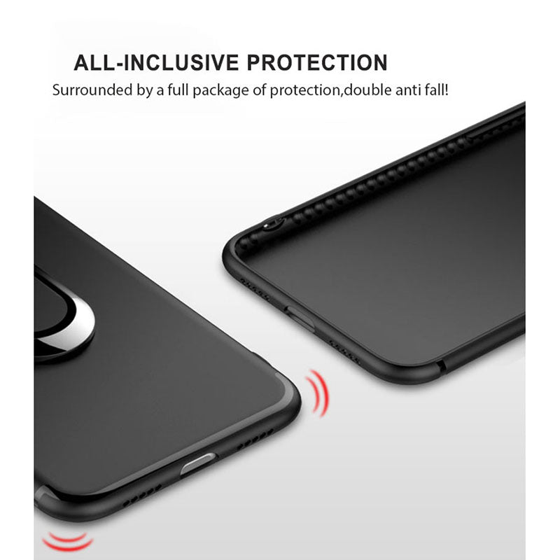 Slim Matte Magnetic Ring Stand Case (iPhone X) - Chikili.com