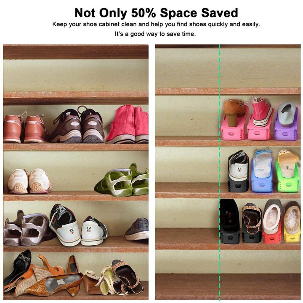 Adjustable Shoe Rack Organizer ( Set of 3 )