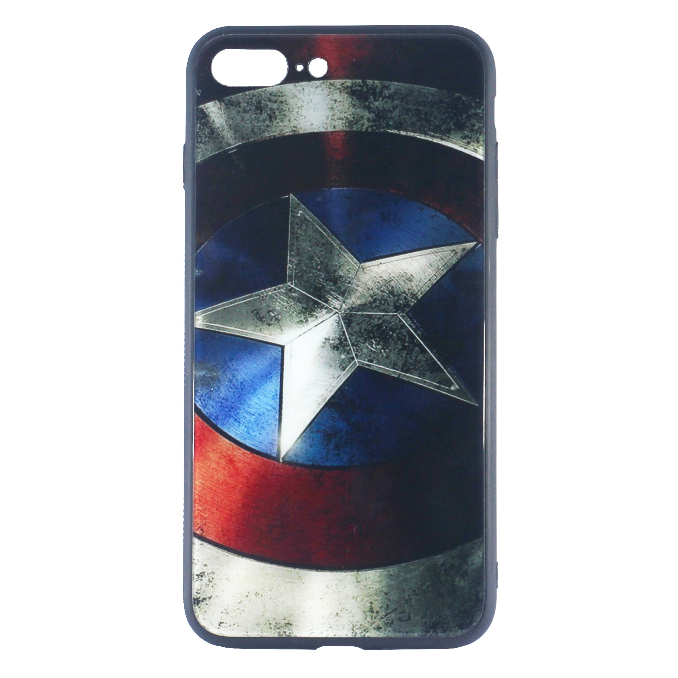 Captain America Tempered Glass Case (iPhone 8 Plus)