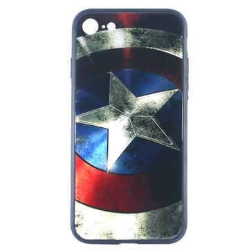 Captain America Tempered Glass Case (iPhone 8)