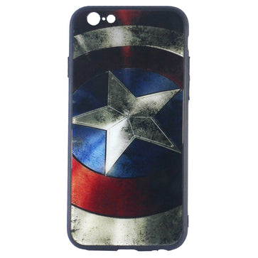 Captain America Tempered Glass Case (iPhone 6 Plus)