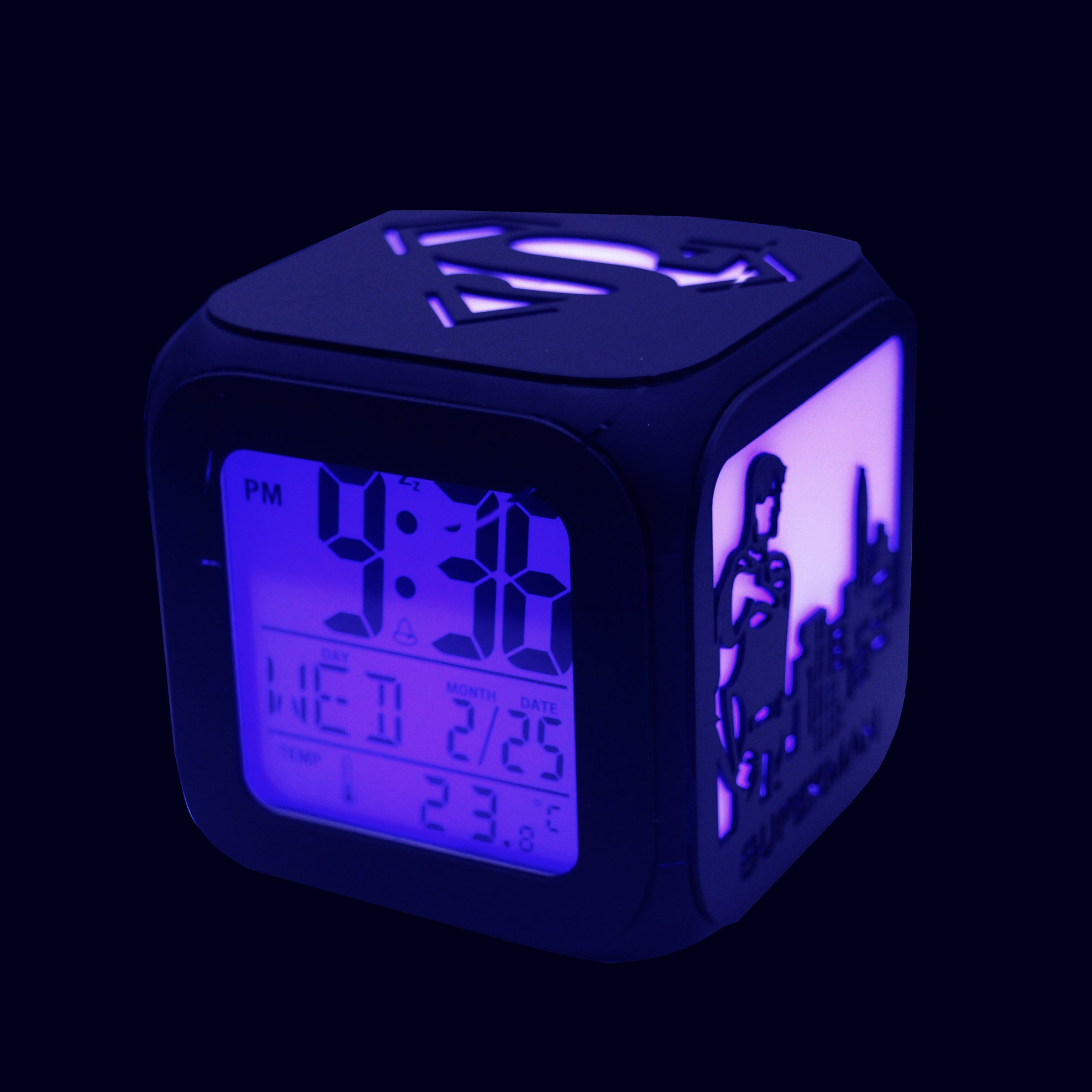 Superman LED Alarm Clock