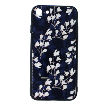 Tempered Glass Floral Case(iPhone 8)