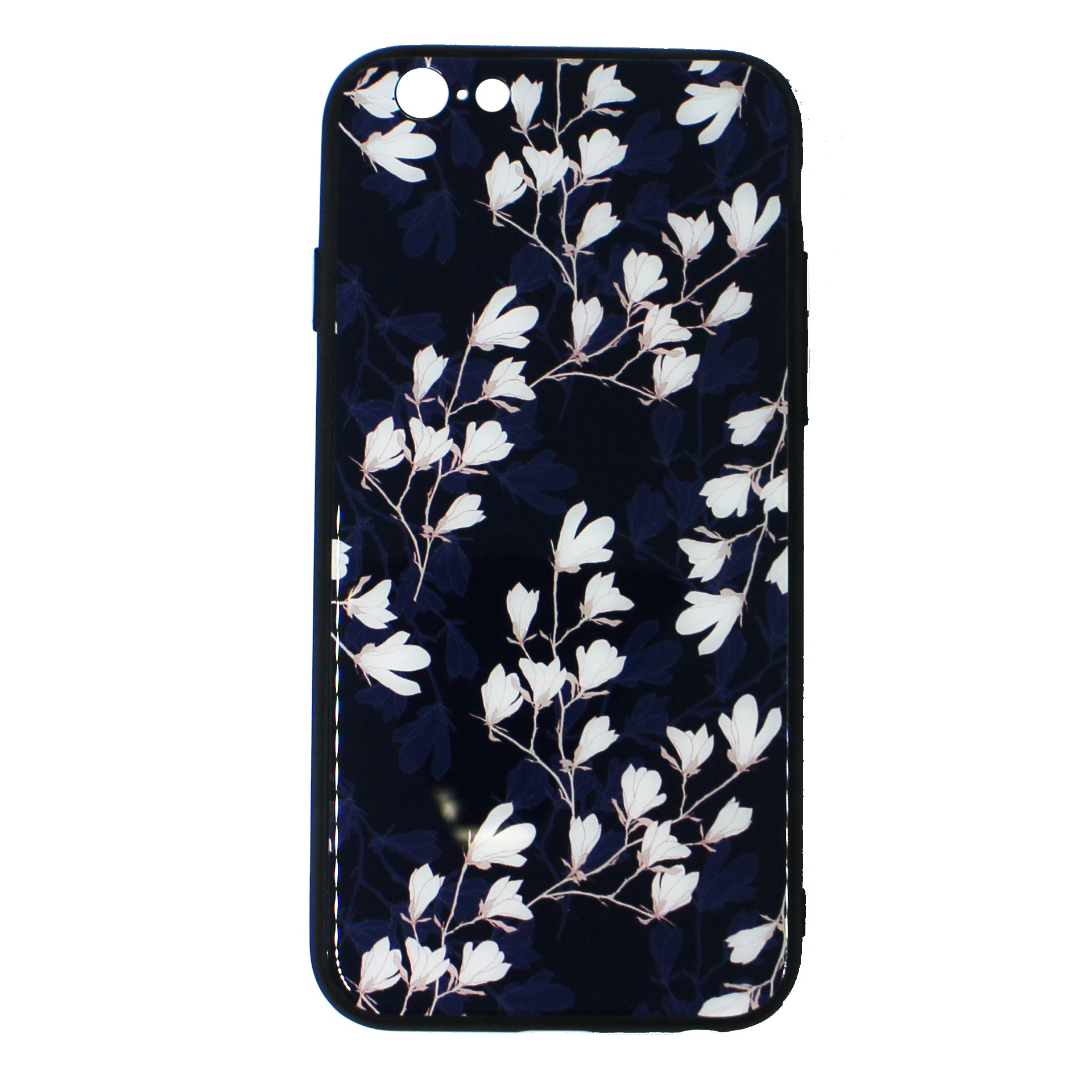 Tempered Glass Floral Case(iPhone 6)