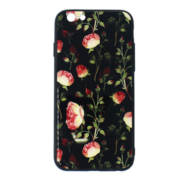 Tempered Glass Floral Case (iPhone 6 Plus)