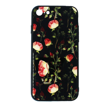Tempered Glass Floral Case (iPhone 8)