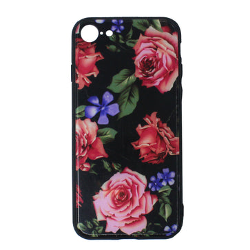 Tempered Glass Floral Case ( iPhone 7 )