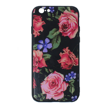Tempered Glass Floral Case ( iPhone 6 Plus)