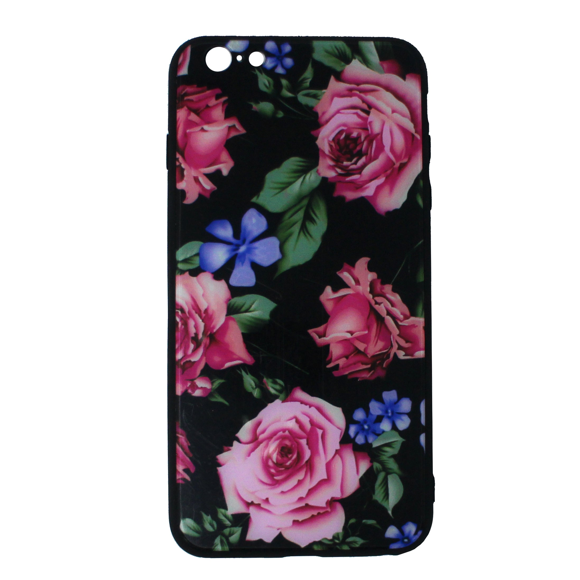 Tempered Glass Floral Case ( iPhone 6 )
