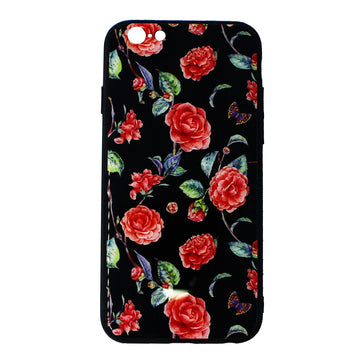 Tempered Glass Flower Case ( iPhone 6 )